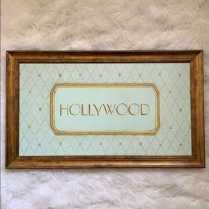 Hollywood Vintage Print in Wood Frame